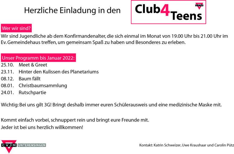 Neuer Club: Club4Teens